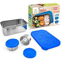 TAVVA Salad Container for Lunch - 23oz Stainless Steel Lunch Container with Leakproof...