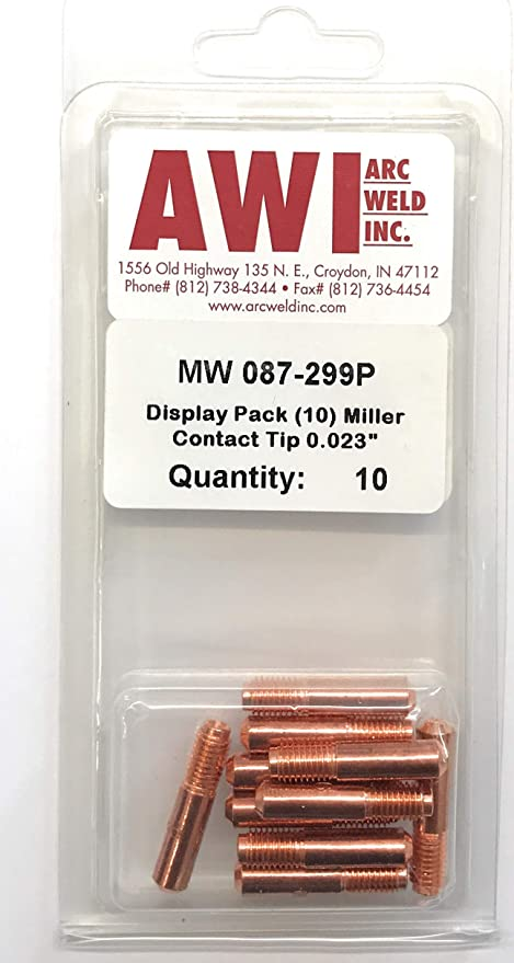 25 Arc Weld by Masterweld Pack of S19391-2 Lincoln Style Contact Tip .045