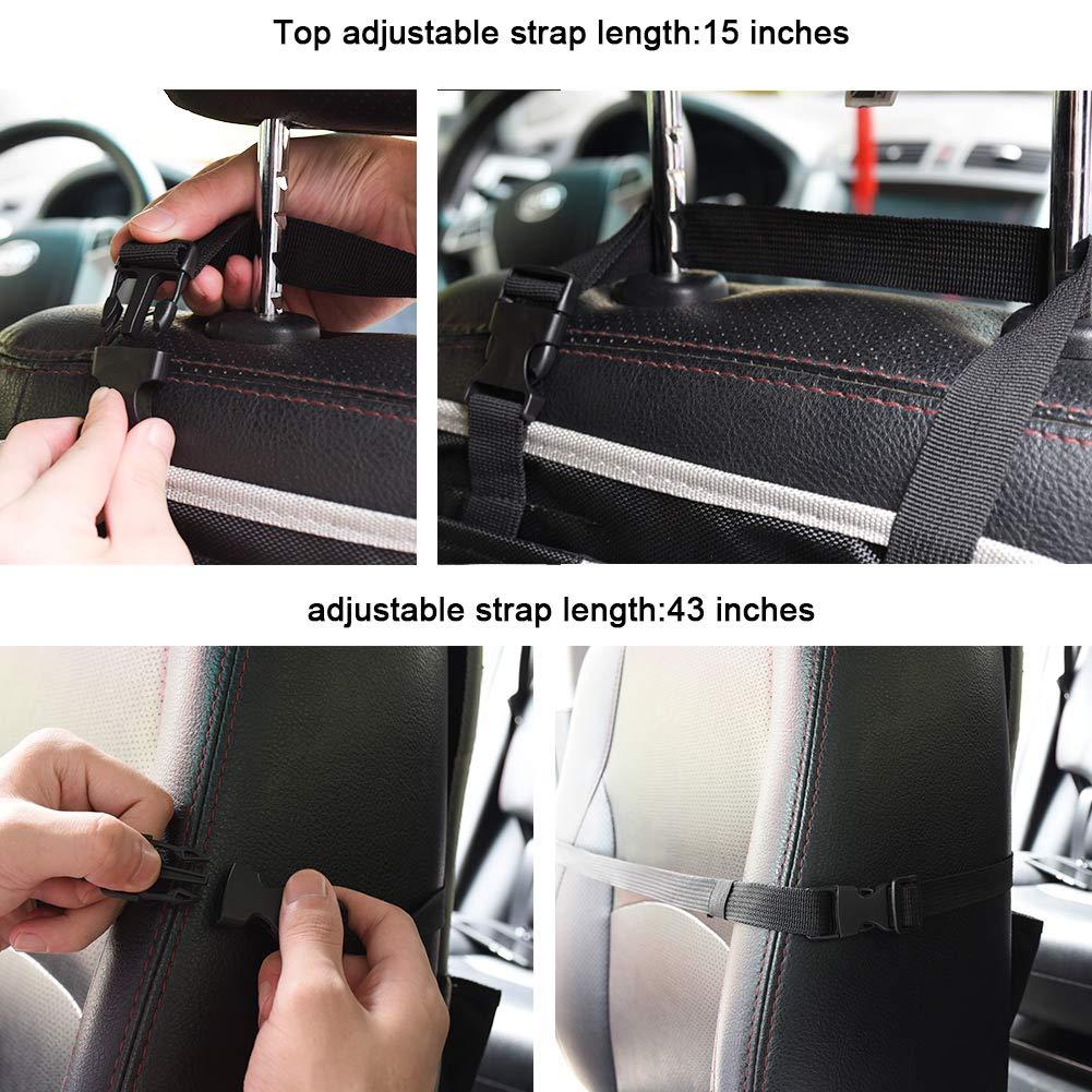 Nero 2 Pezzi Protezione Sedile Auto Protezione Sedile Auto Organizzatore Impermeabile Organizer Bambino per Sedile Auto con Multi-Tasca Protezione Sedile Auto Bambini Supporto per Tablet