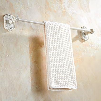PIGE Continental Gold Plus bastidores baño de Pintura Blanca a la Plancha Sola Barra de Toalla