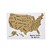 Deals on AmazonBasics Scratch Off Poster of The United States Map