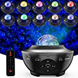 Night Light Baby Star Projector, 10 Color Bluetooth night Lamp with Timer Remote, Dimmable Combinations Romantic Starry…