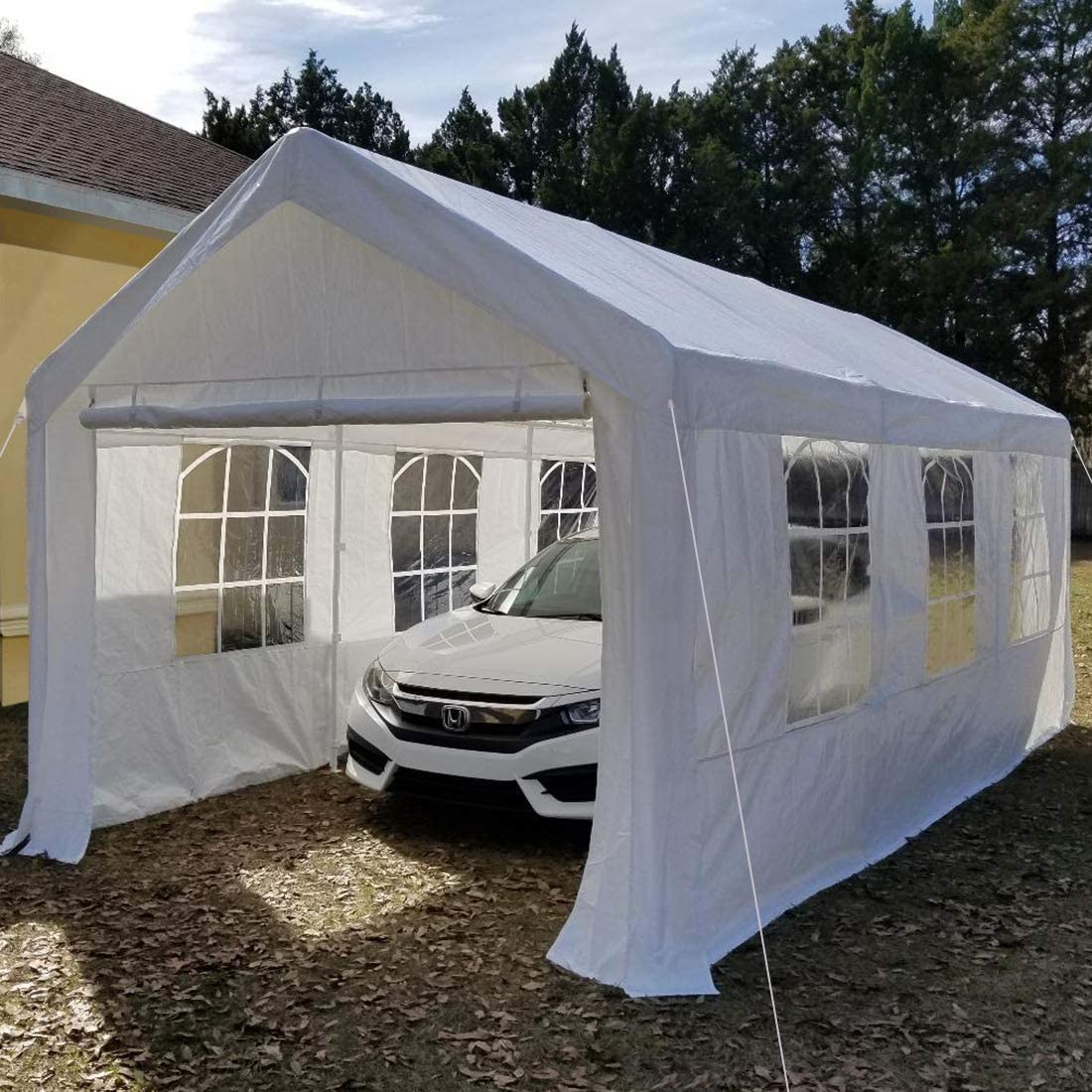 Overwhelming 10'x20' Heavy Duty Carport Garage Portable ...