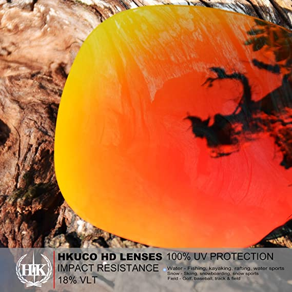 HKUCO Reinforce Replacement Lenses For Rudy Stratofly Red//Blue//24K Gold//Emerald Green Sunglasses