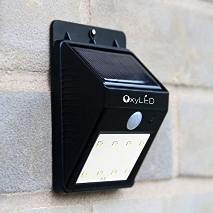Oxyled sl30 bright solar powerd wireless 8 led security motion oxyled sl30 bright solar powerd wireless 8 led security motion sensor light sensor light outdoor mozeypictures Choice Image