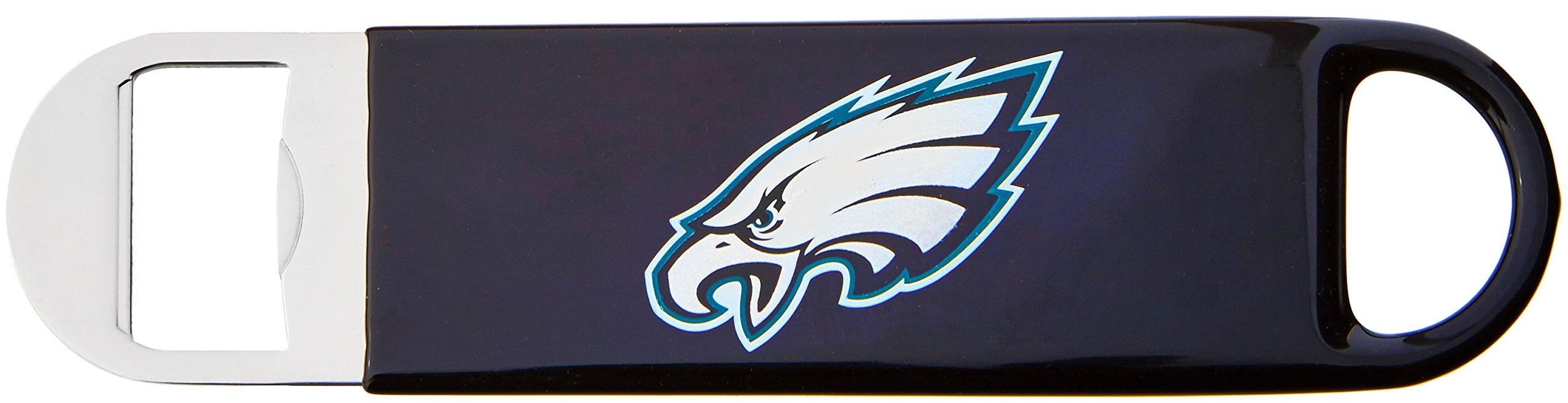 NFL Philadelphia Eagles Vinyl Covered Long Neck Bottle Opener, Black, 7''