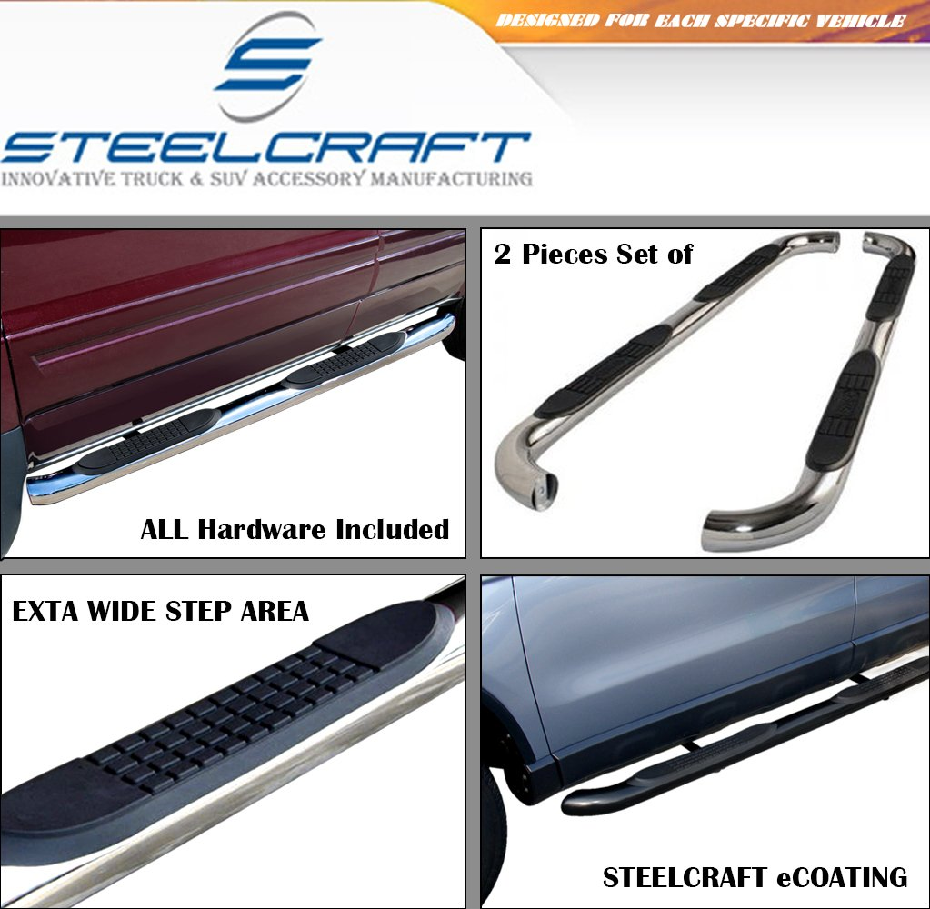 97 HD MODELS ONLY F-SERIES PICK UP-REG.CAB STEELCRAFT 211070 80-96 FORD BRONCO FULL SIZE 3 SIDEBARS BLACK Side Step Nerf Bar Running Board