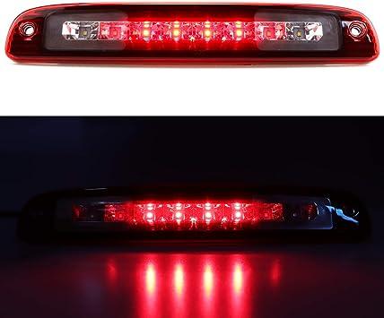 Red Lens Dantoo For 1997-2007 Dodge Dakota High Mount Dual Row LED 3rd Thrid Tail Brake Light Cargo Light