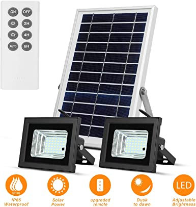 Luces Solares de Inundación con Paneles Solares de
