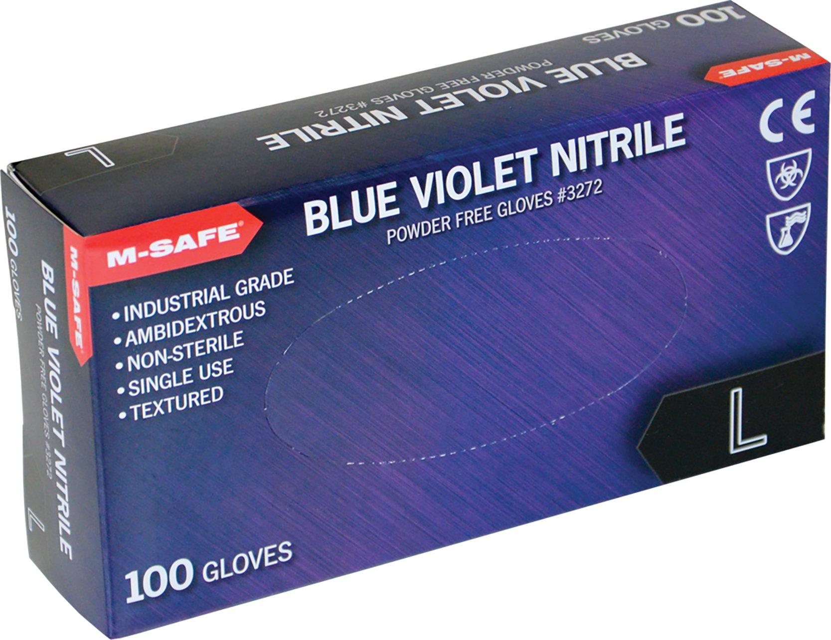 (20 Boxes) Majestic POWDER FREE 3MIL DISPOSABLE NITRILE GLOVES, 100/BOX - 2X LARGE(3272/12)