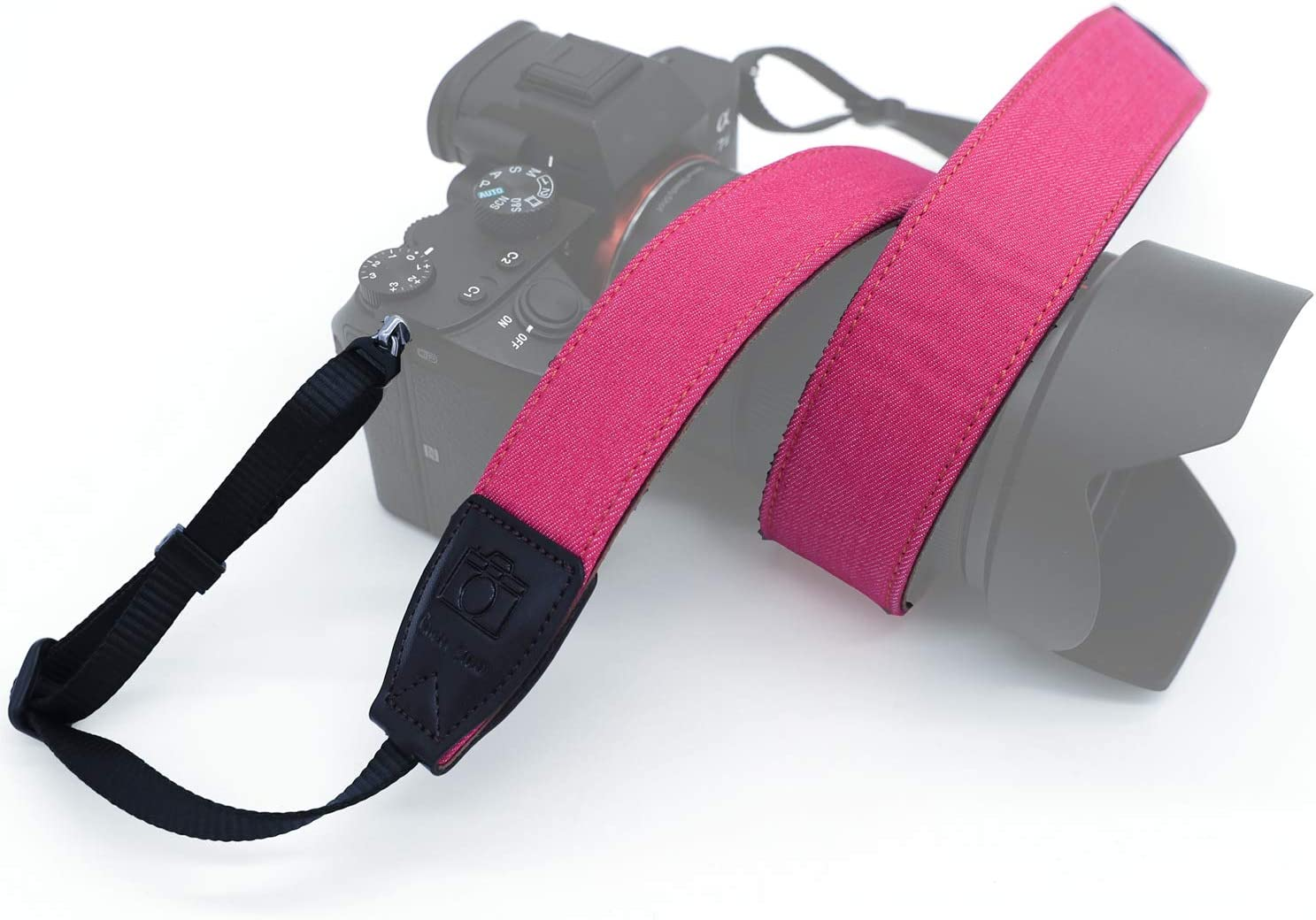 Pink DSLR /& Mirrorless Camera Crossbody Shoulder Belt Sling for Sony Canon Nikon Fujifilm Pentax Leica Adjustable Safety Tether Professional Replacement Heavy Duty Camera Neck Strap