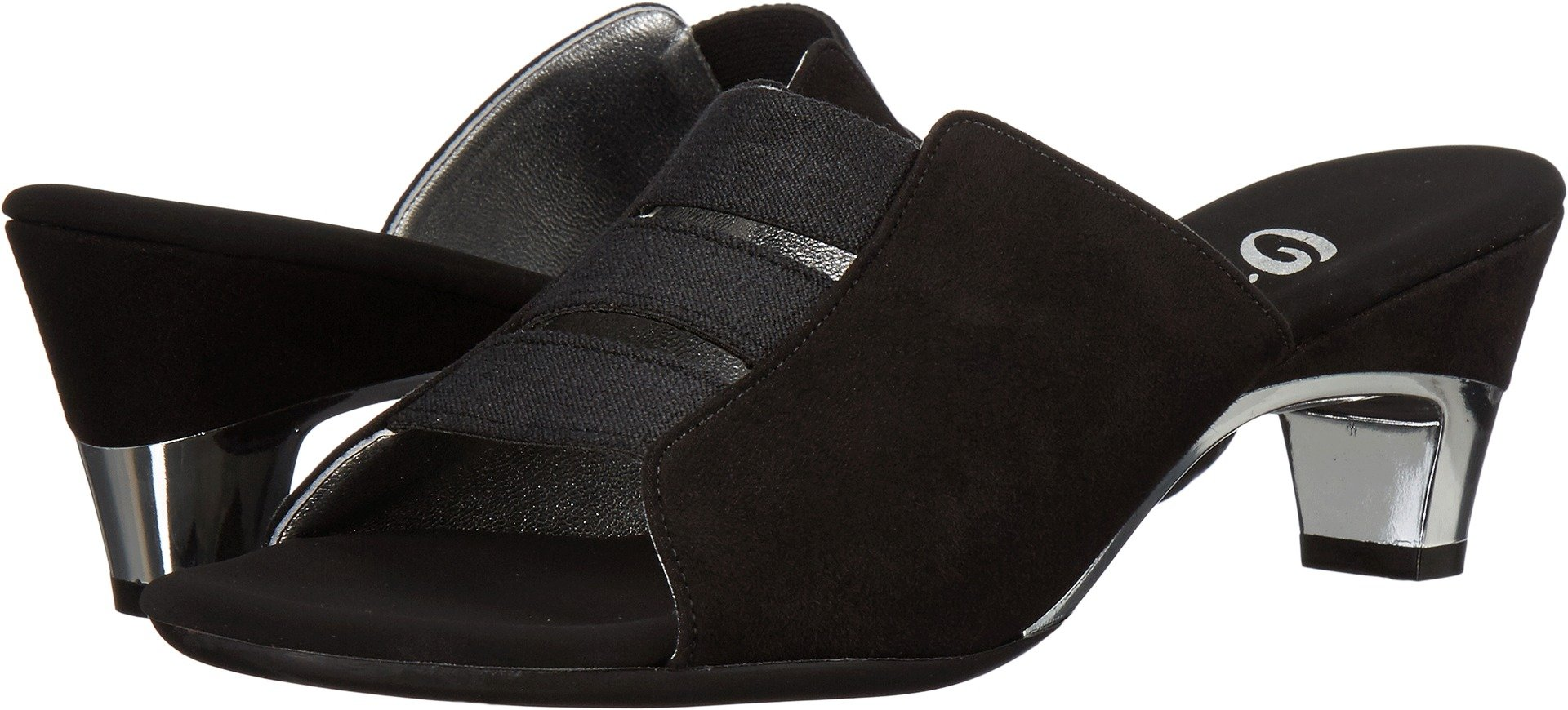 Onex Women's Selma Black Suede Sandal by Onex