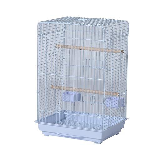Pawhut Voliera-Jaula para pájaros Fabricado con hilo de hierro con ...