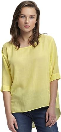 Amichi, Camisa textura amarilla - Mujer - Amarillo - Talla ...