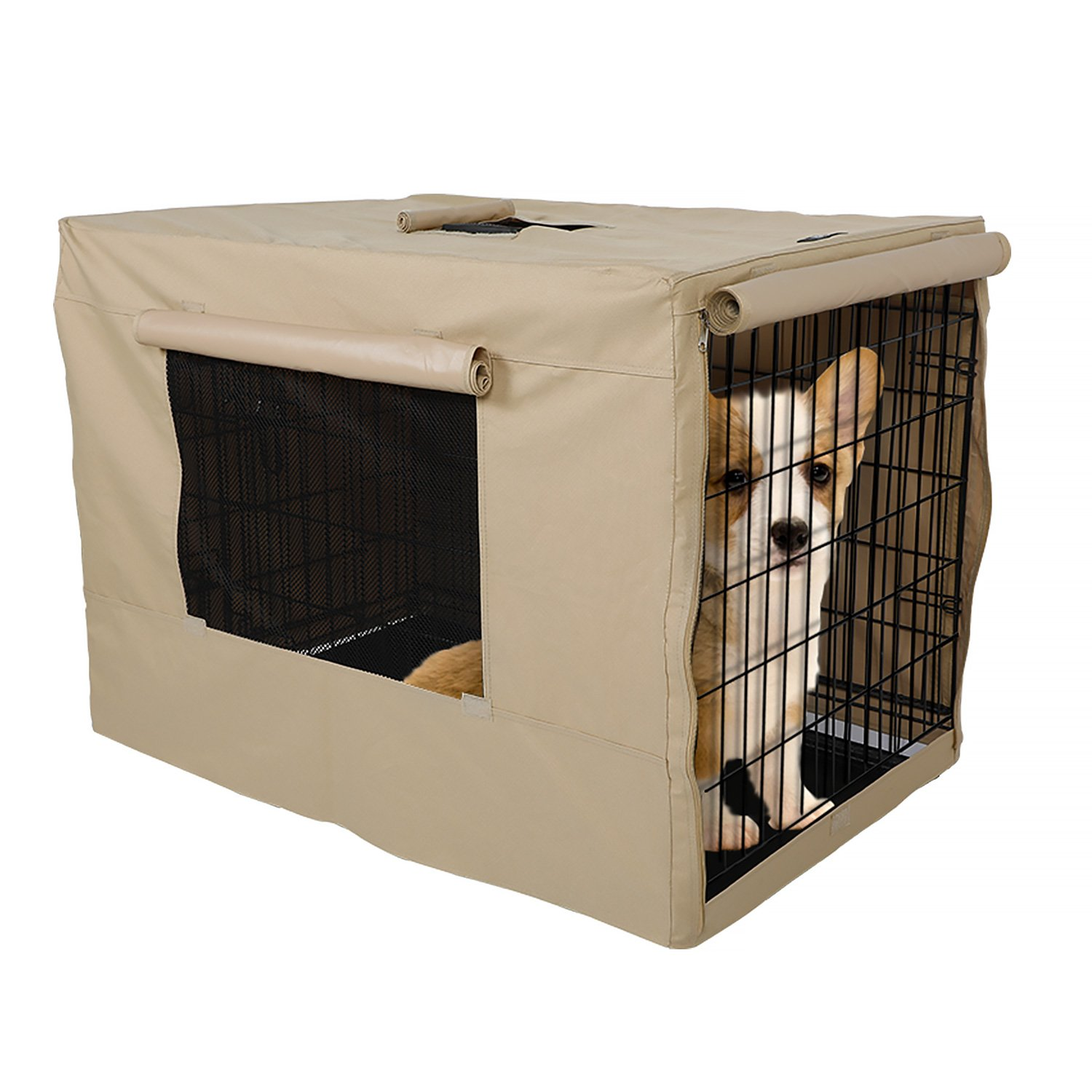 X-ZONE PET Indoor/Outdoor Dog Crate Cover, Polyester Crate Cover or Durable Windproof Kennel Covers for Wire dog Crates (30-Inch) by X-ZONE PET (Image #3)