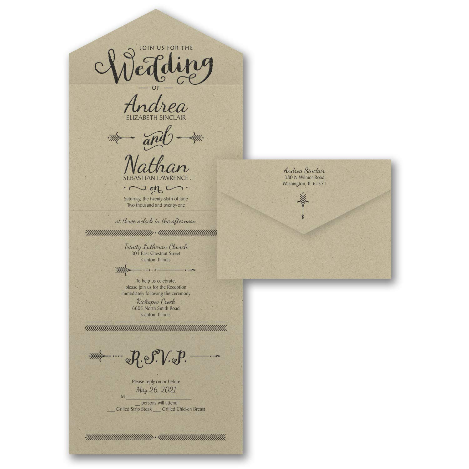 Seal And Send Wedding Invitations.Amazon Com 525pk Love S Arrow Seal N Send Wedding