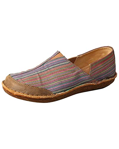 Twisted X Womens Leather Wrap Slip-On Shoes Moc Toe Multi 5.5 M