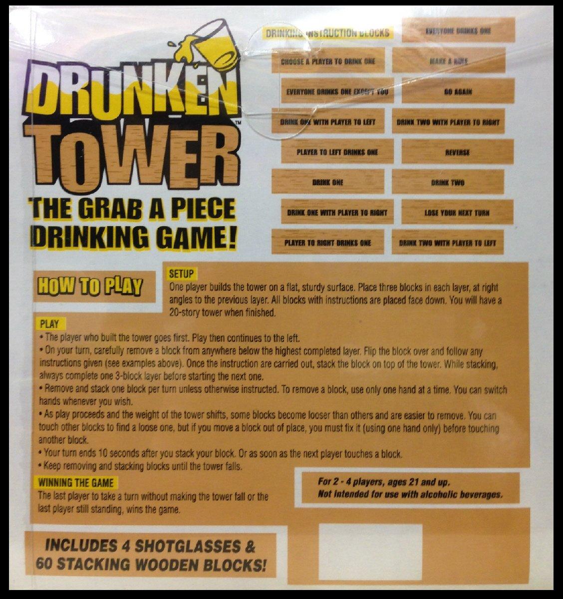 Amazoncom Homeware Drunken Tower Drinking Game Toys Games