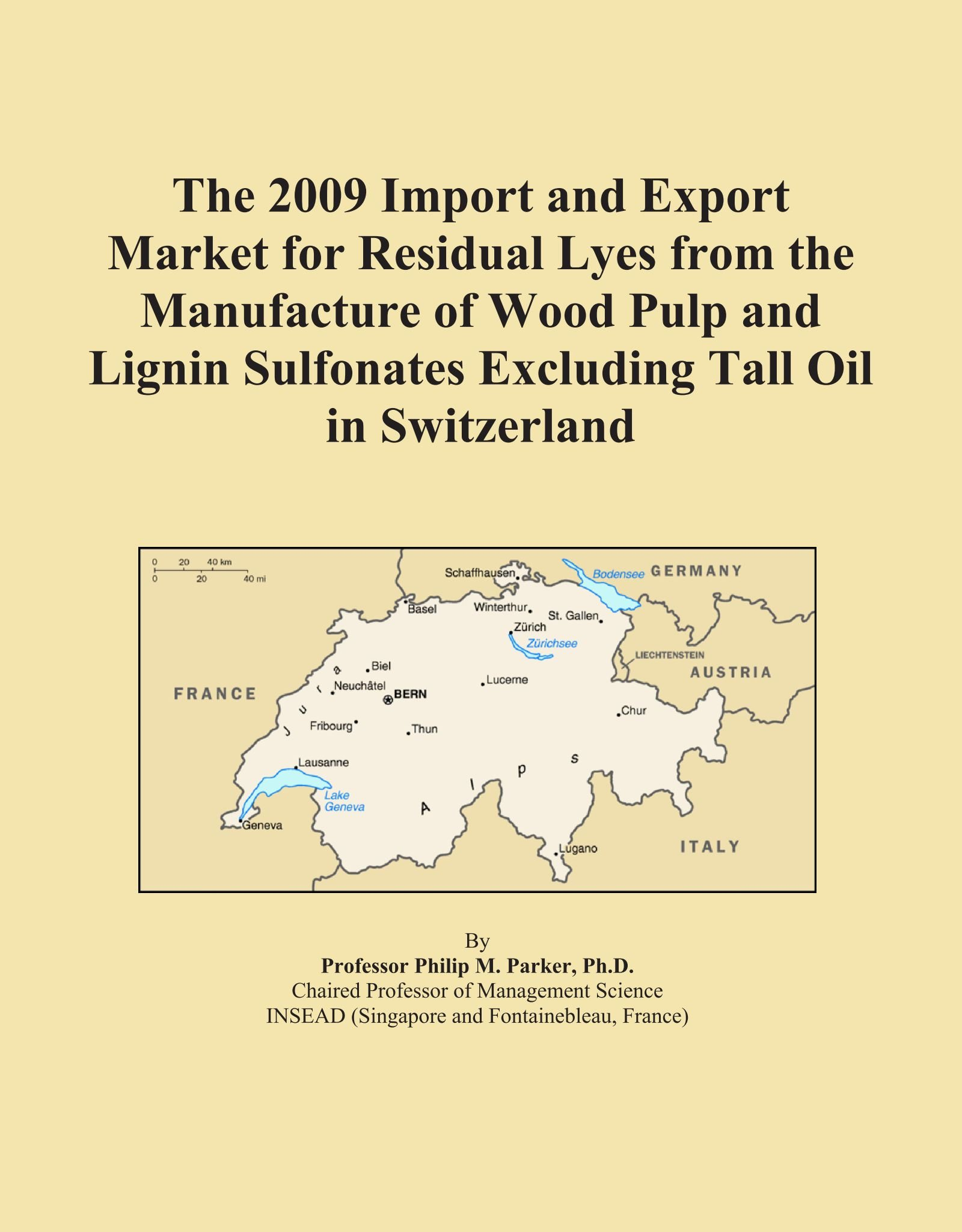 Download The 2009 Import and Export Market for Residual Lyes from the Manufacture of Wood Pulp and Lignin Sulfonates Excluding Tall Oil in Switzerland ebook
