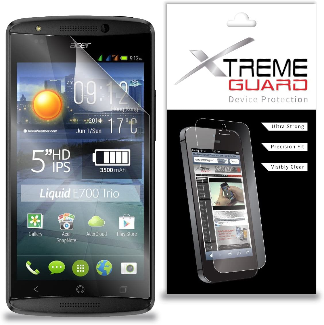 XtremeGuard Screen Protector for Acer Liquid E700 (Ultra Clear)
