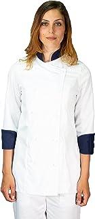 tessile astorino Casacca Chef, Giacca Cuoco, e bandane, Vari Colori, Uomo, Donna, Taglie da XS a XXXXL, Made in Italy