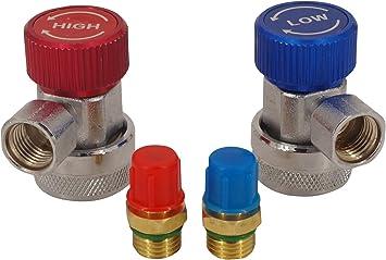 Webertools Adapter Klima Schnellkupplung Klimaanlage R134a Hochdruck Niederdruck Kfz Auto