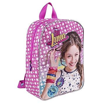 Mochila para niña de Disney Soy Luna - Bolso Escolar con Estrellas Blancas - Bolsa para