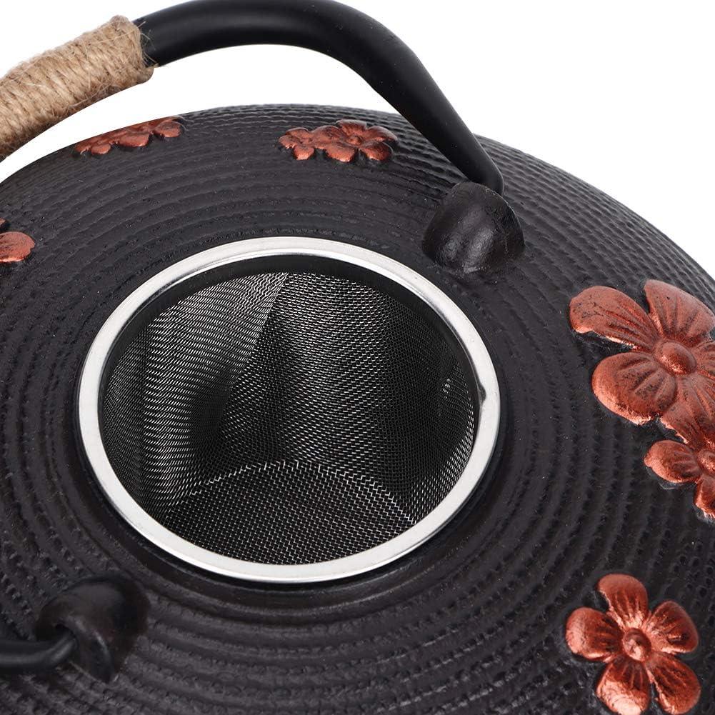 Estrellas Trivet /& Tetsubin Japon/és Estilo Hierro Fundido Negro Clavo Grande Olla Tetera 0.8L Gifts Of The Orient