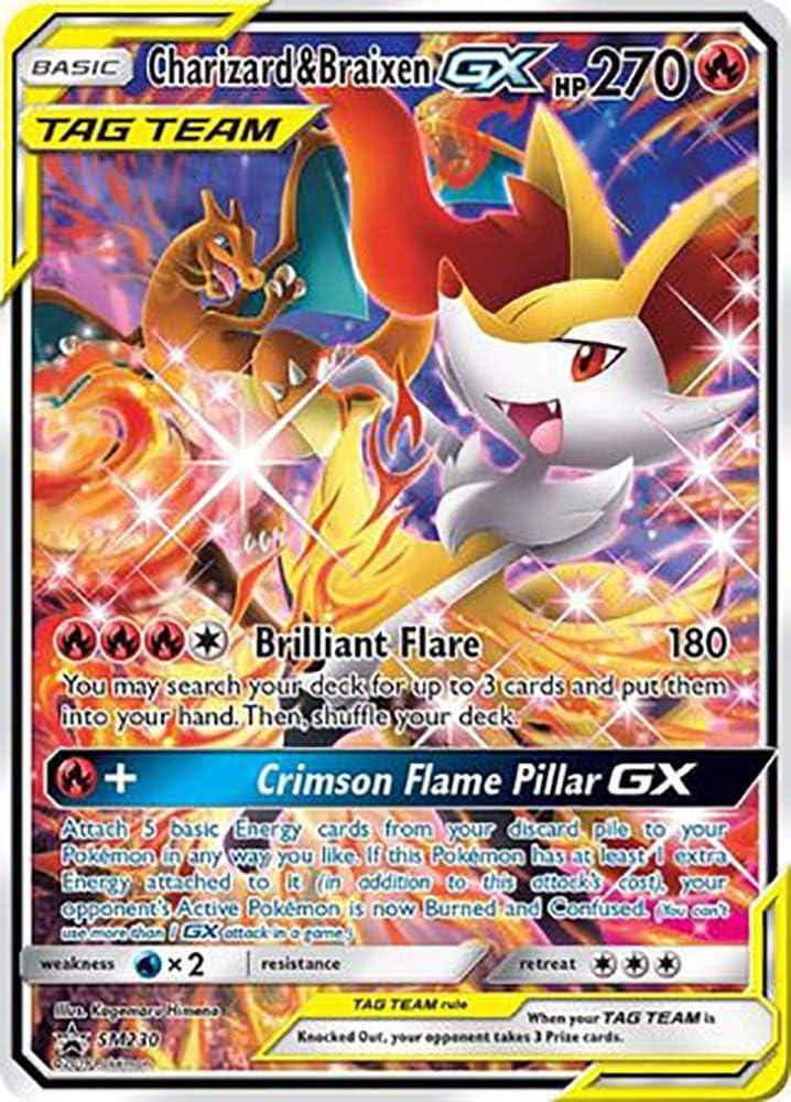 Charizard /& Braixen GX Ultra Rare NM Promo SM230 Pokemon TCG