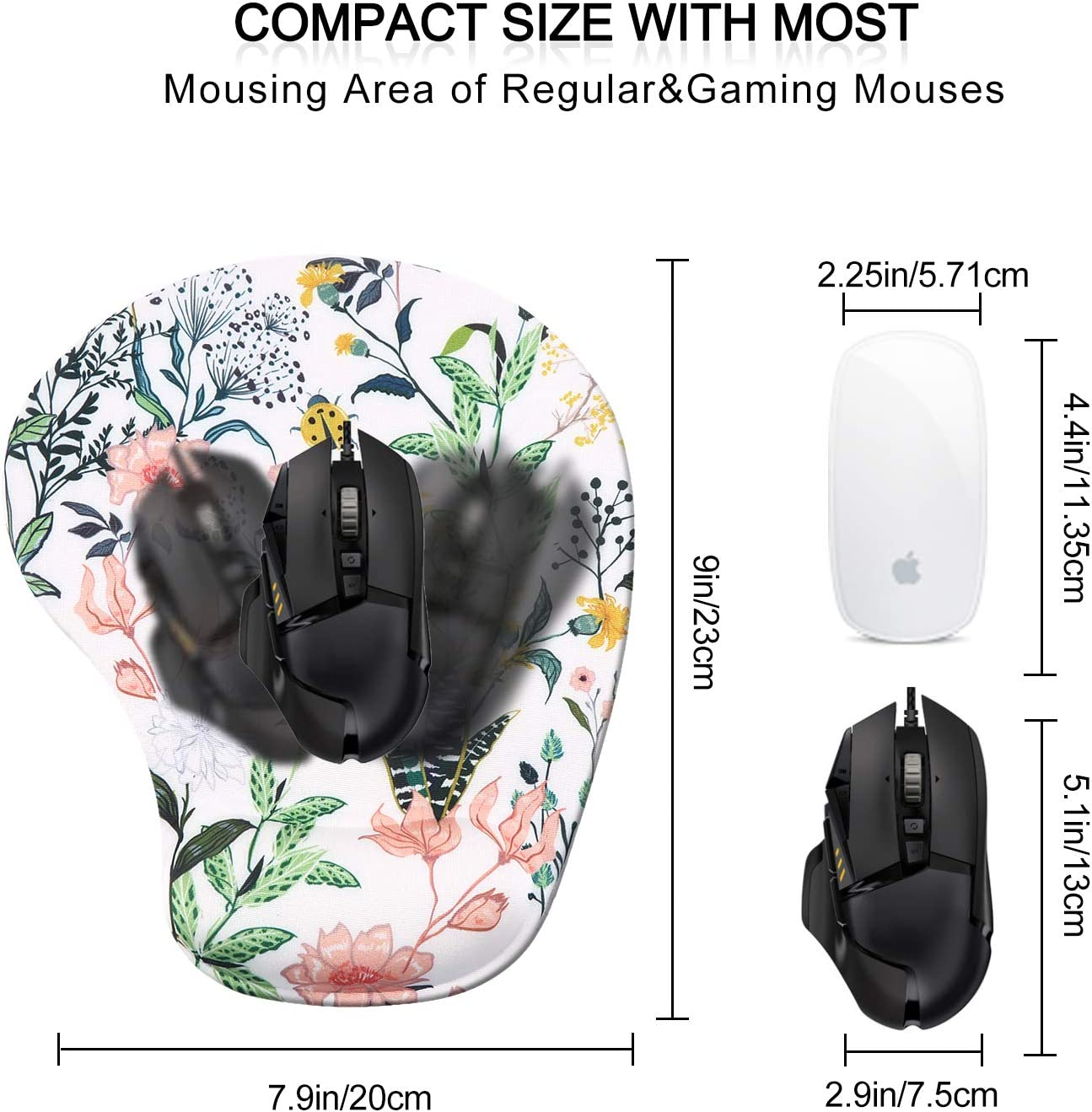 Ergonomic Mousepad with Gel Wrist Rest Support Forest Durable /& Comfortable Non-Slip Mouse Mat Wrist for Laptop Computer Gaming Home Office Easy Typing /& Pain Relief iCasso Mouse Pad