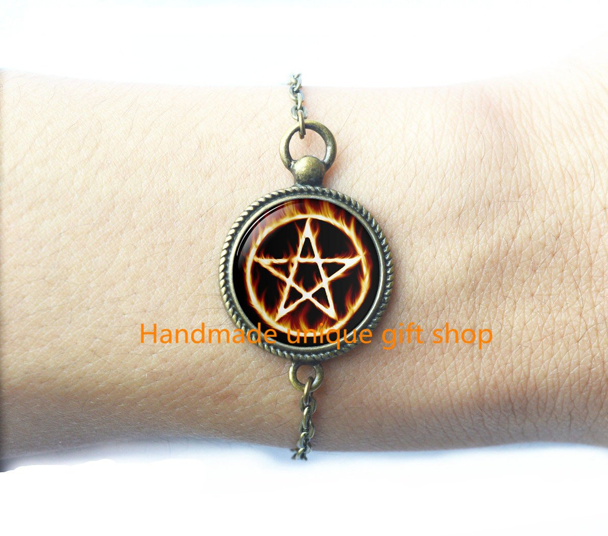 Wiccan Jewelry Astrology Bracelets-RC353 Pentagram Jewelry Pentagram Bracelet Dainty Bracelet,Pentagram Bracelets Wiccan Bracelet Charm Bracelet Wiccan Bracelets Fashion Bracelet