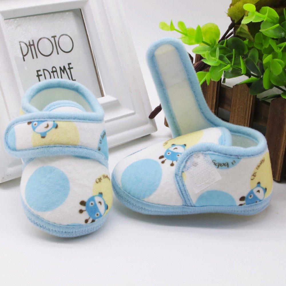 Infant Newborn Baby Solid Soft Sole Prewalker Warm Shoes Boys Girls Non-Slip First Walkers Soft Cotton Shoes 0M-12M