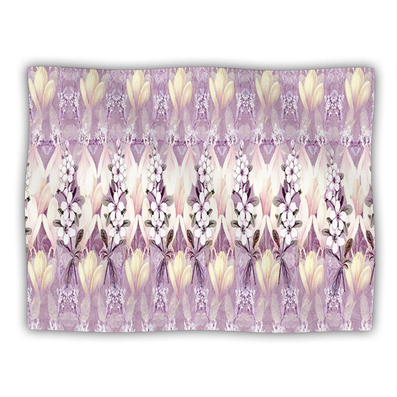 Kess InHouse Suzanne Carter Laurel85  Pink Purple Pet Dog Blanket, 40 by 30-Inch