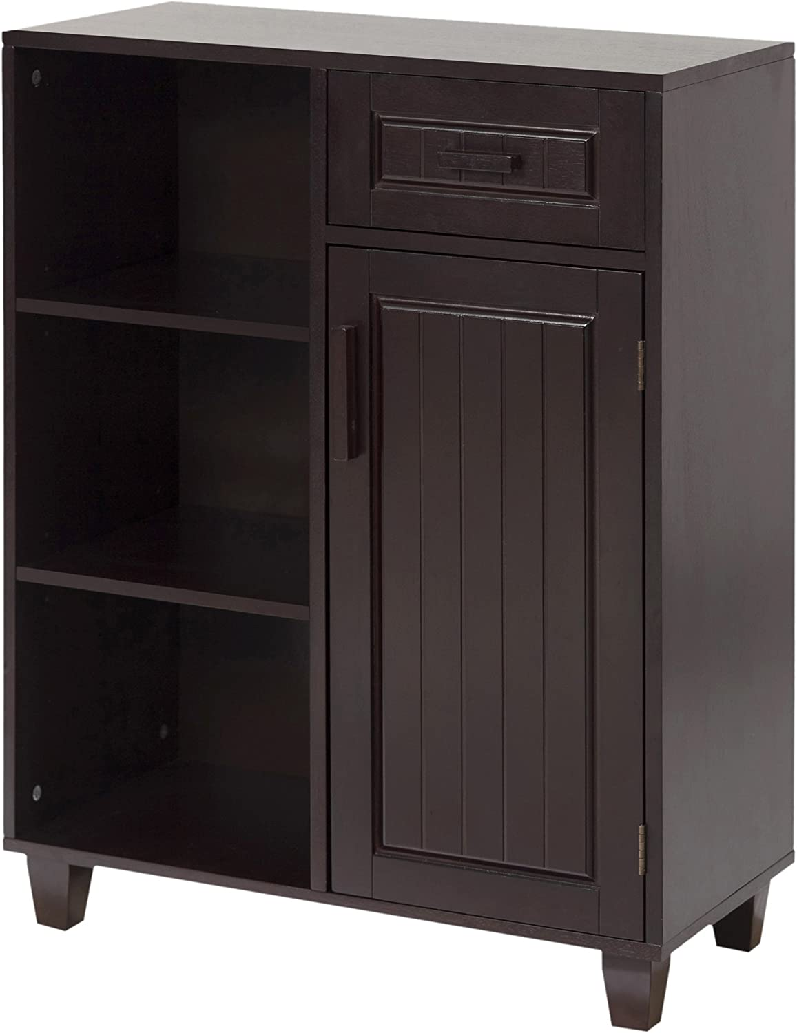 "Elegant Home Fashions Catalina 26"" 1-Door Floor Cabinet in Dark Espresso"