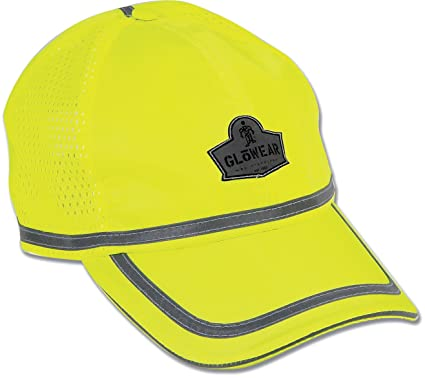 900146e26 Ergodyne GloWear 8930 Hi-Vis Baseball Cap, Lime