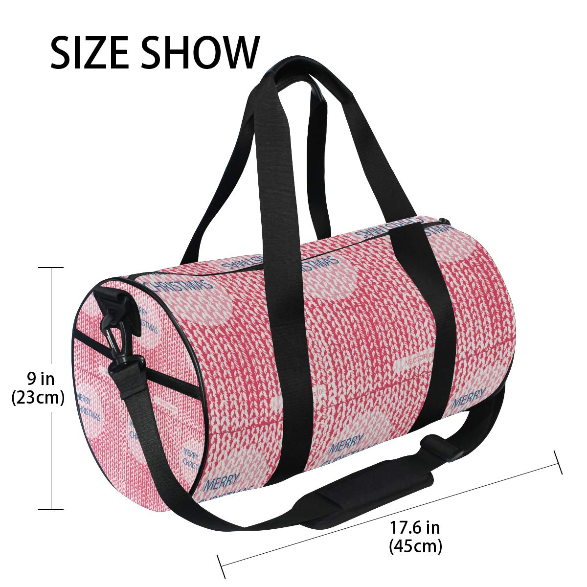 Knitted Christmas Balls Popular casual fitness bag,Non-Slip Wearable Crossbody Bag Waterproof Shoulder Bag.