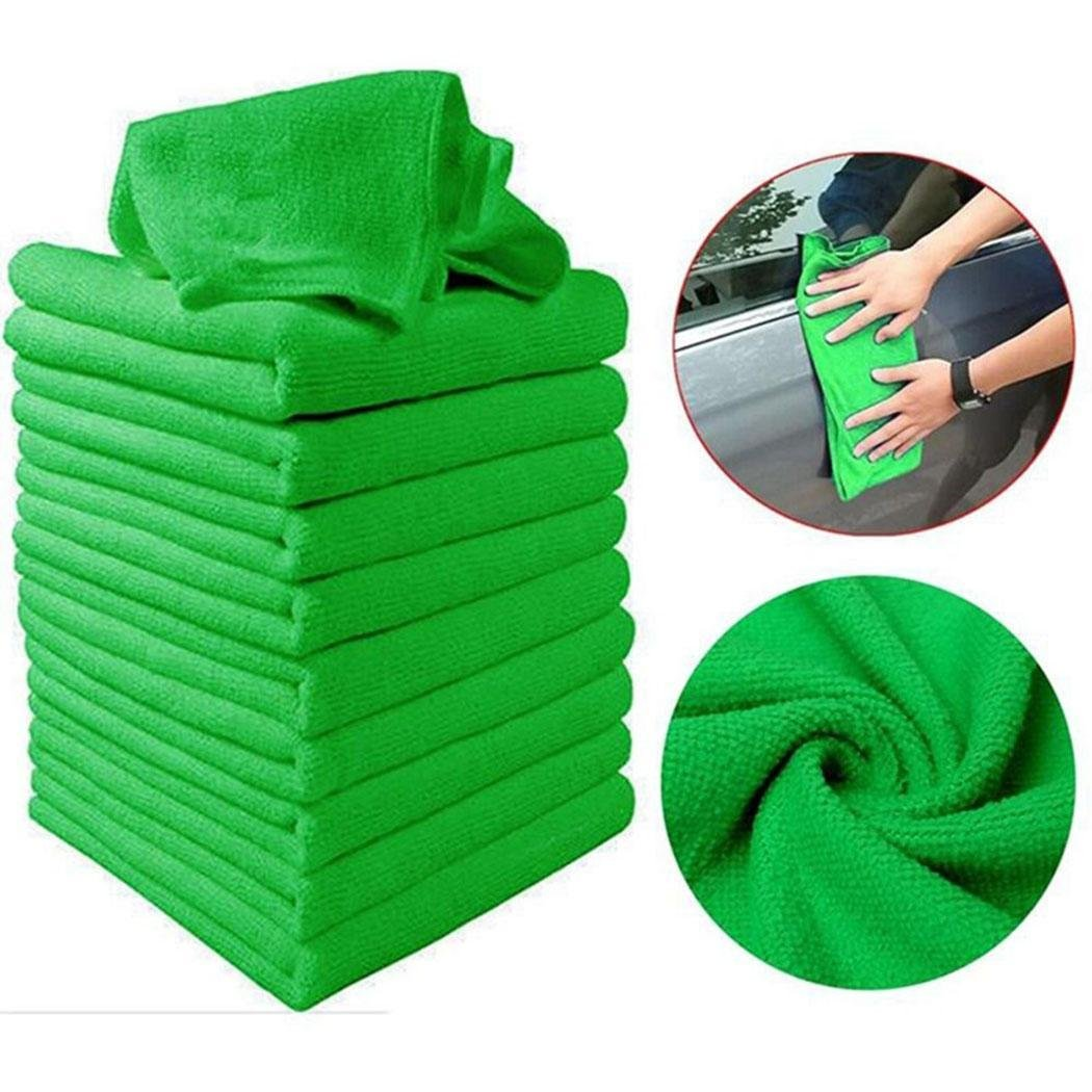 Kuerli Asciugamano per la Pulizia dell'auto per Capelli Non in Assorbimento di Acqua Quadrato in Microfibra (2)