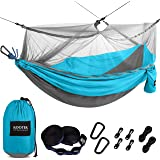 Kootek Camping Hammock with Mosquito Net Double & Single Portable Hammocks Parachute Lightweight Nylon with Tree Straps…