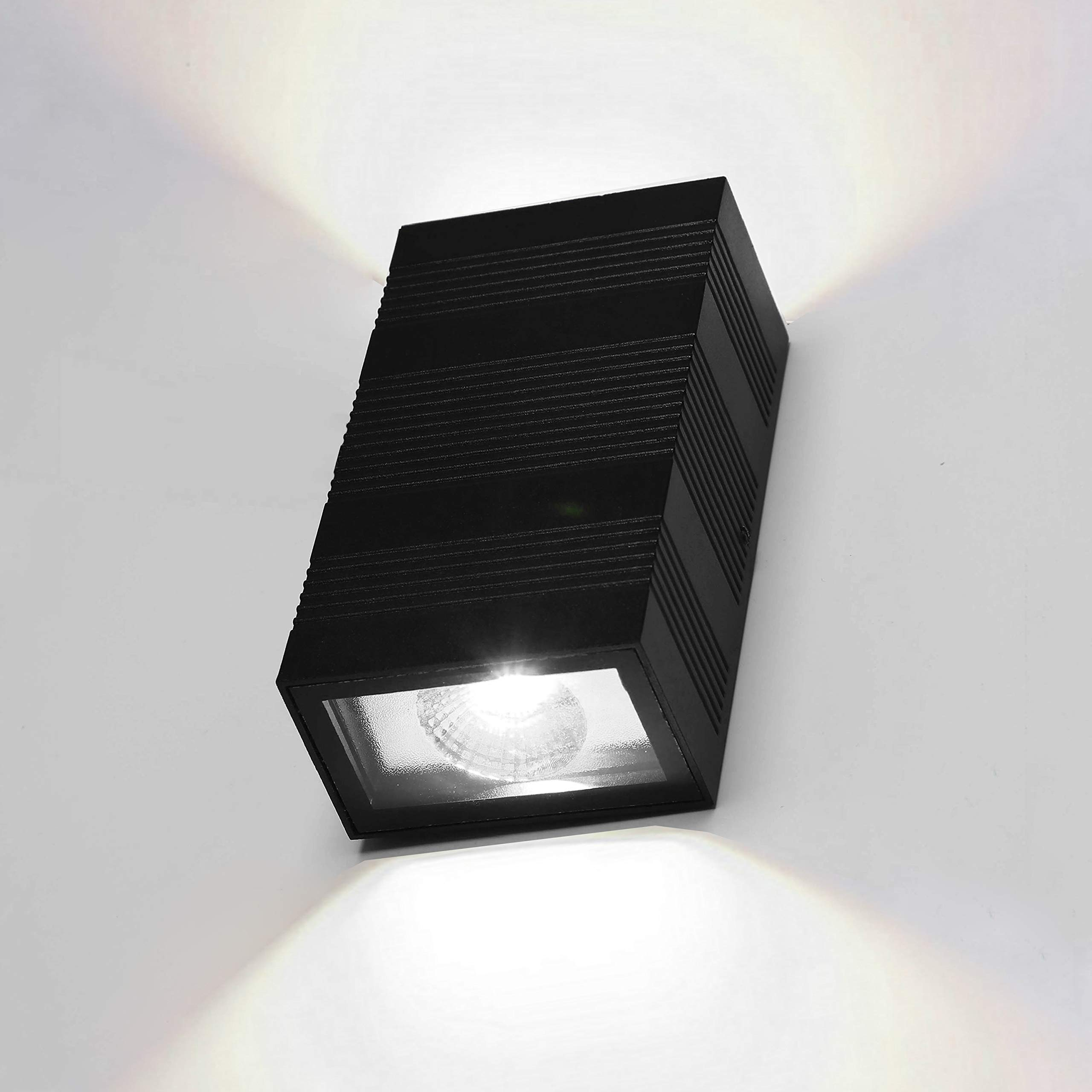 Modern Led Wall Sconce Interior Wall Light Fixtures Up and Down Lighting Lamp for Hallway, Living Room, Home 10W Aluminum Black