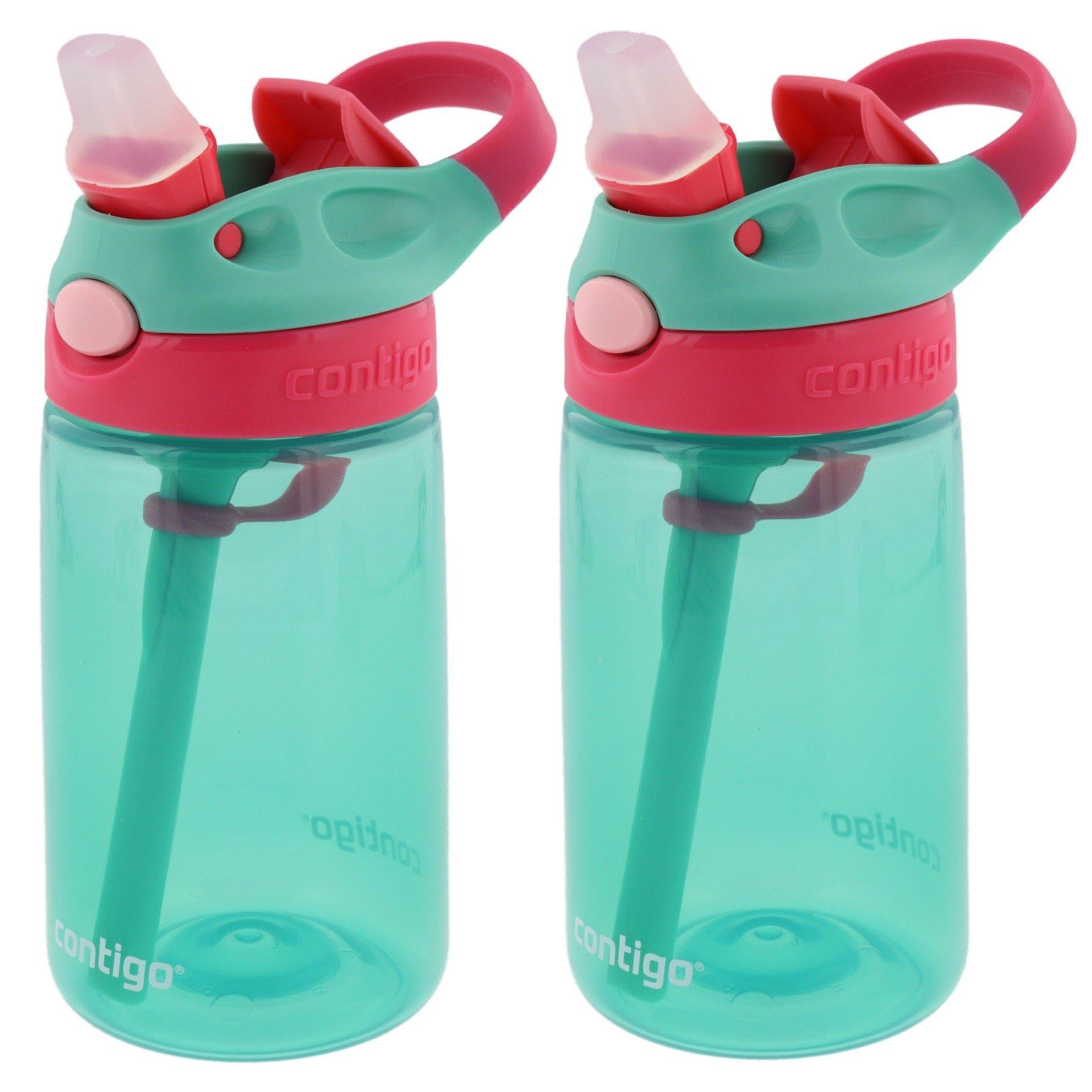 Contigo Kids Autospout Gizmo Water Bottles, 14 ounce ( Persian Green )