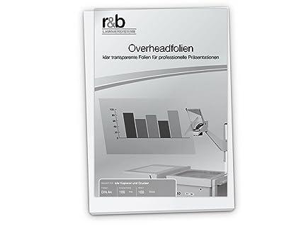 R & B PTIS Copia pantalla DIN A4, 100 micras para Negro ...