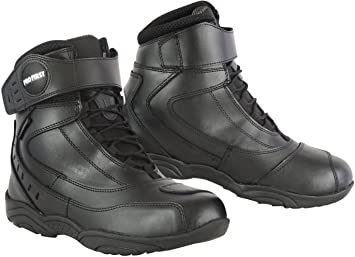 EU 41 Black REXTEK Rider Boots New Motorbike Waterproof Boot Leather Motorcycle Touring Shoes Armoured Off Road for Men 7