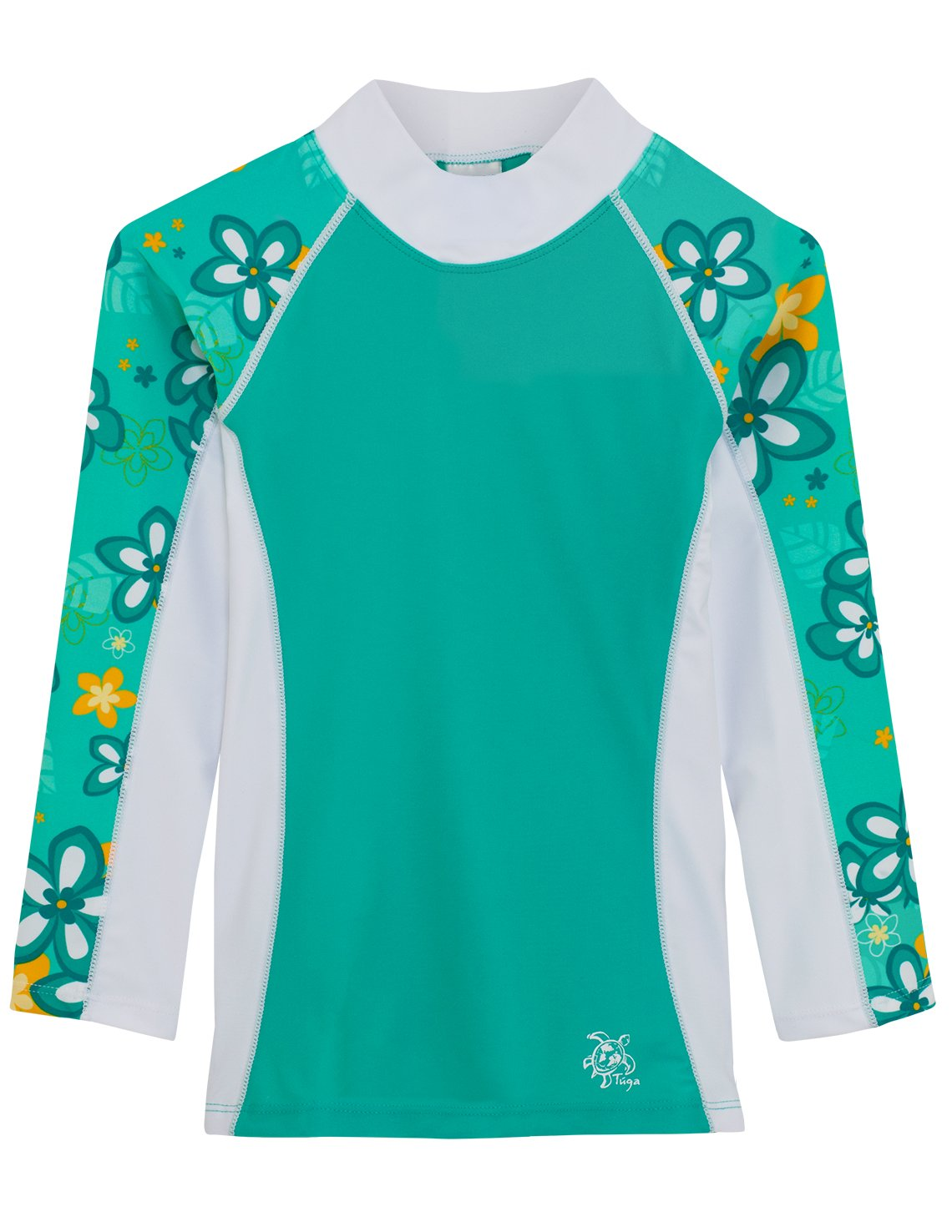 Tuga Girls Long Sleeve Rash Guards 1-14 Years, UPF 50+ Sun Protection Swim Shirt