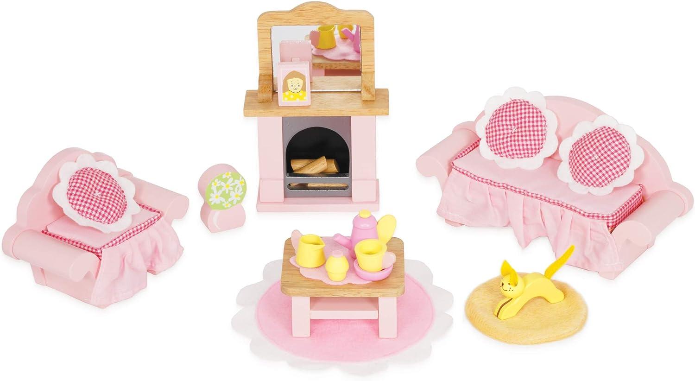Le Toy Van Doll House Daisylane per bambini Camera da letto in legno giocattolo BN
