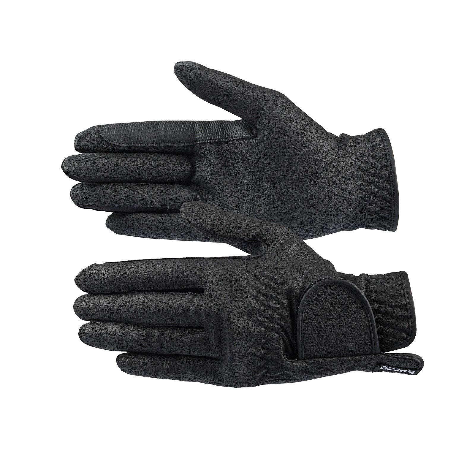 HORZE Eleanor PU-Leather Gloves - Black - 9