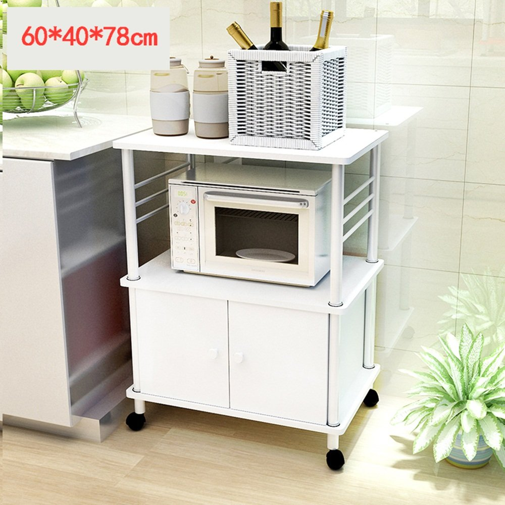 Étagère de cuisine créative - étagère à micro-ondes Multilayer - Multifunctional Kitchen Floor - Shelf - Shelf -