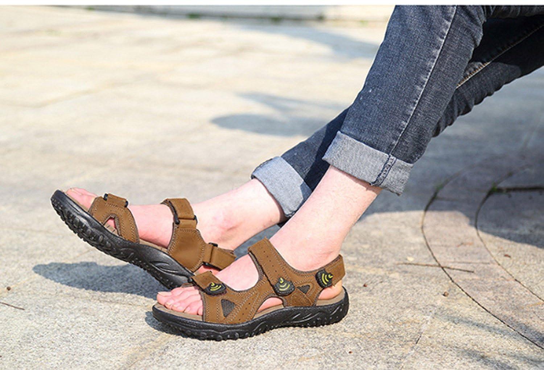 Herren Leder Beach Schuhe Sommer Jungen Breathable Jungen Sandalen Flip Sport Casual Outdoor Hausschuhe Flip Sandalen Flops Reisen Strand Surf Beige ce9a27