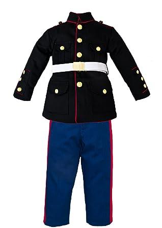 e147d5a1 Amazon.com: Trooper Clothing Boy's 3 Pc Marine Corp Dress Multi-color  Uniform Set Small (6-8): Clothing