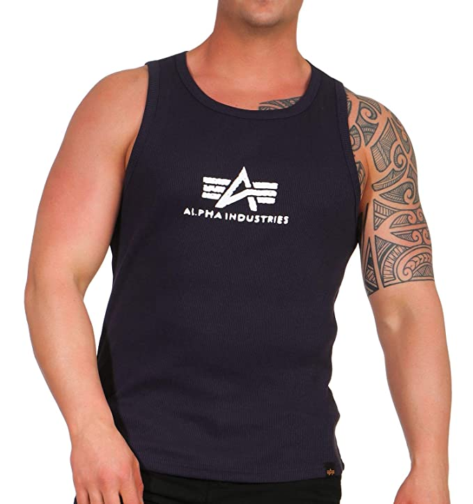 Alpha Industries Hombres Ropa Superior/Tank Tops Logo: Amazon.es ...