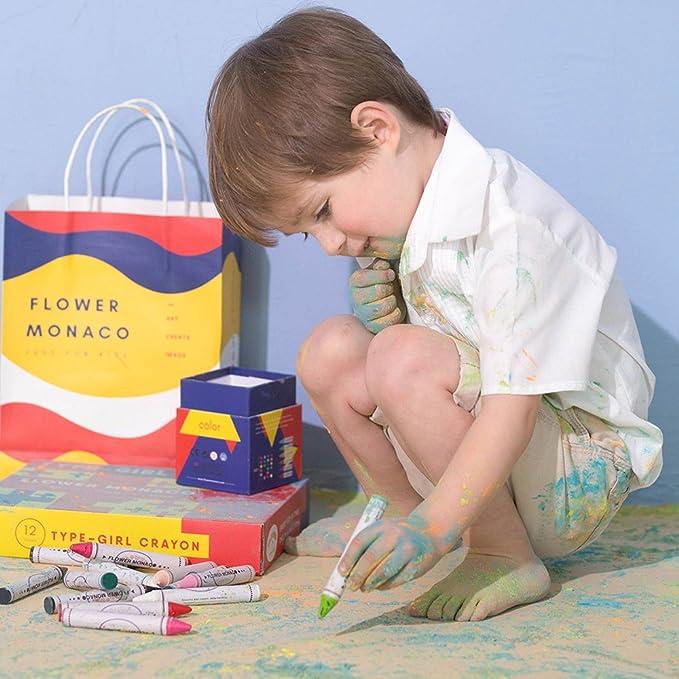 Kleinkinder und Kinder Flower Monaco Lebze Kleinkinder Wachsmalstifte 16 Farben Zeichenstift Wachsmalstifte Sicher und ungiftig f/ür Baby